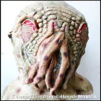 Hallowee Party Cosplay Doctor Who Wode Star Horror Head Mask Movie Horrible Creepy Ood Latex Octopus Mask Prop Adult Animal Mask