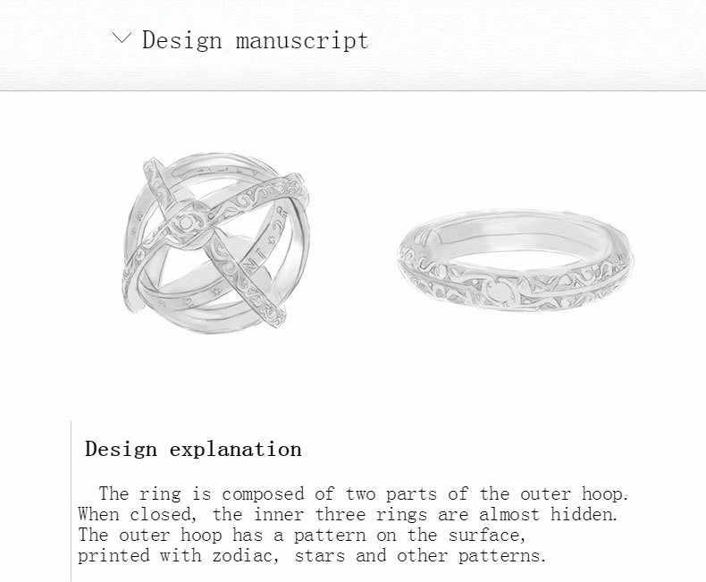 """3UMeter 2019 Новое астрономическое кольцо для бала для влюбленных творческие парные кольца """"любовь"""" Германия Винтажное кольцо подарок Прямая доставка"""