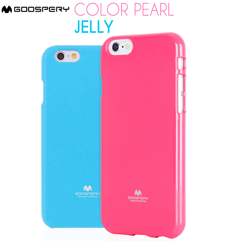Galleria fotografica Original Mercury Goospery Color Pearl Jelly Flexible TPU Soft Cover Case For Apple iPhone 4 4S 5 5S 5C SE 6 6S 7 8 Plus X XR XS MAX 11 11pro 11 Pro Max