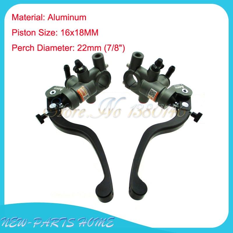"22mm 7//8/"" Right Motorcycle Adelin Brake Master Cylinder Hydraulic 16X18 Piston"