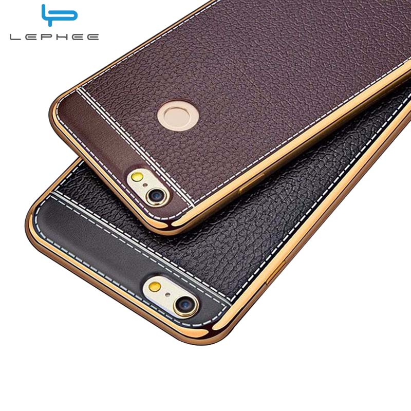 best sneakers cf17f c926e LEPHEE Xiaomi Mi Max 2 Case Cover Soft Silicon Leather Cover+Gold Plated  TPU Bumper Case Mi Max 2 Case Cover Xiomi MiMax 2 6.44