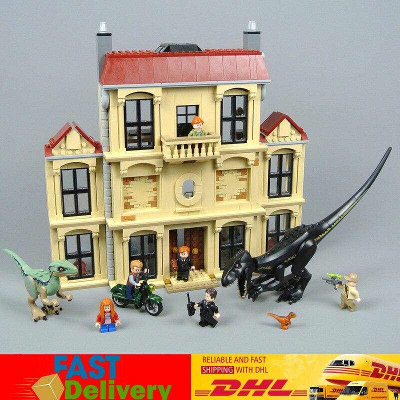 Classique Jurassic Dinosaure Monde 2 Indoraptor Saccage À Lockwood Immobilier blocs de briques Jouets Cadeaux Compatible LegoINGlys 75930