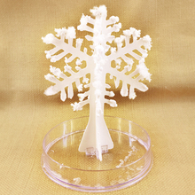 2019 120mm H DIY White Magic Growing Paper Snowflake Tree Magical Grow Snowflakes Flutter Crystal Trees Flakes Kids Science Toys 2019 12x8cm hot white magic growing paper snowflake tree magical grow snowflakes flutter crystals snowman trees flakes kids toys