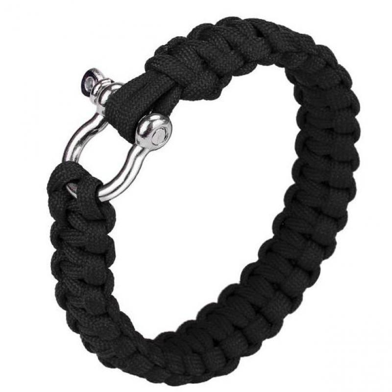 Bracelet Rope Cord-Buckles Wristband Paracord Survival Braided Camping-Equipment Climbing