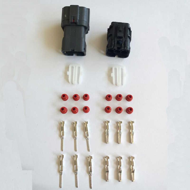 6 دبوس 1.8 ملليمتر الأسود للماء سيارة موصلات الذكور والإناث السيارات موصل التوصيل سترة