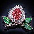 Joyería FARLENA pintado Lindo granada roja piedras broche de la manera broches prendedores para mujeres vestido de fiesta de la boda de accesorios