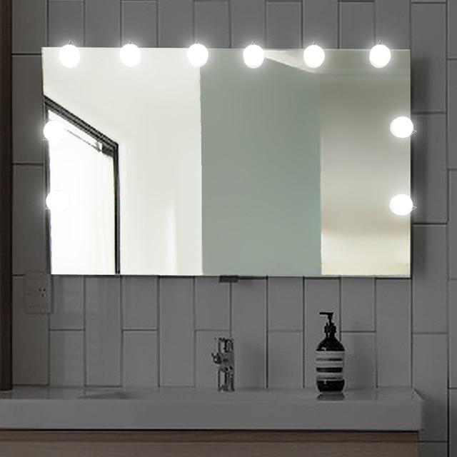 plug in vanity mirror lights. Konesky Led Make up Vanity Mirror Light Hollywood DIY Lamp String Cool  White Waterproof