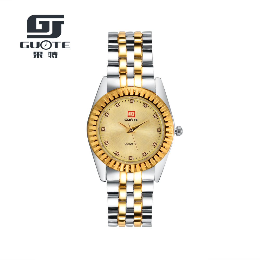 2016 New GUOTE Luxury Brand Gold and Silver Elegant Casual Quartz Watch Women Stainless Steel Dress Watches Relogio Feminino Hot new luxury brand dqg crystal rosy gold casual quartz watch women stainless steel dress watches relogio feminino clock hot sale