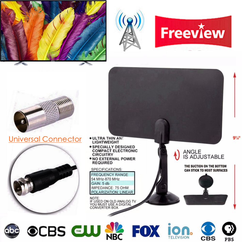 Indoor HDTV Digital TV Surf Fox Antenna Free TVFox TVSurf TV Radius Antena DVB T DVB