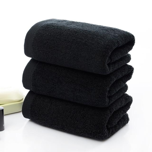 2018 New Arrivals 35*75cm Luxury Men Face Towel toalha Super Soft 100% Cotton Black Towel Brand Home Hotel Terry Towel EA048