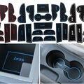 15 Pcs Anti Não Slip Com Palavras Em adesivos de Carro Porta Interior sulco Copo Ranhura Portão Mat Pad Para Hyundai IX35 09-15 LHD carro-Styling