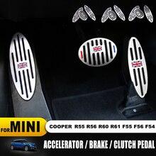 Resto pedais do pé para mini cooper r55 r56 r60 r61 f55 f54 f56 carro estilo interior decoração adesivo acessórios pedais do pé 3 peças