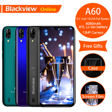 Get more info on the Blackview A60 Original 6.1 inch New Fashion Mobile Phone 19.2:9 Full Waterdrop Screen Android 8.1 4080mAh 1GB+16GB 3G Smartphone
