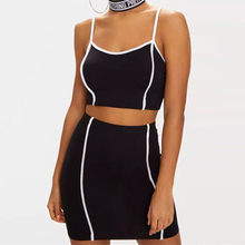 e06e196a1b49 2018 2 Piece Set Women Sexy Crop Top And Pants Two Piece Outfits Women For Summer  Striped Drawstring Tracksuit Women Short Set