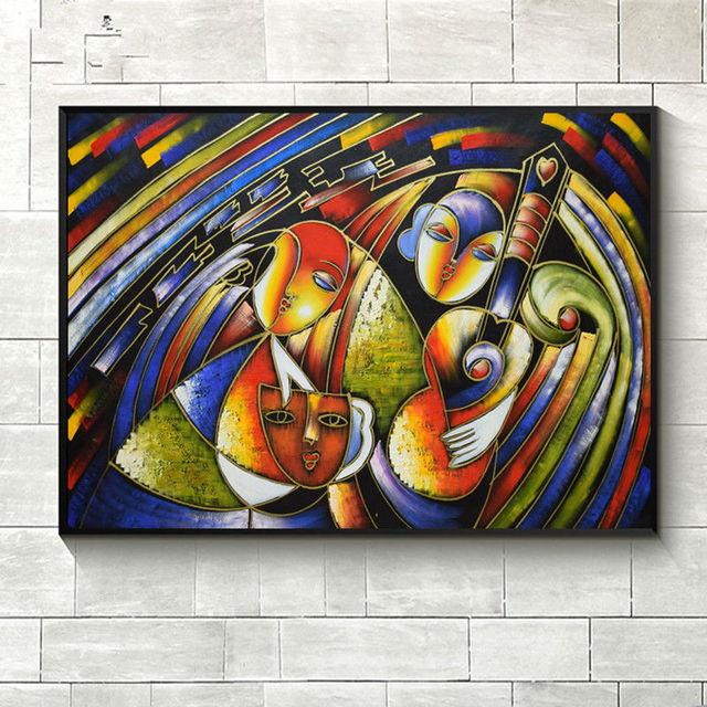Célèbre Peintures De Clown Picasso Peinture à Lu0027huile Abstraite Mur Photo  Peint à La