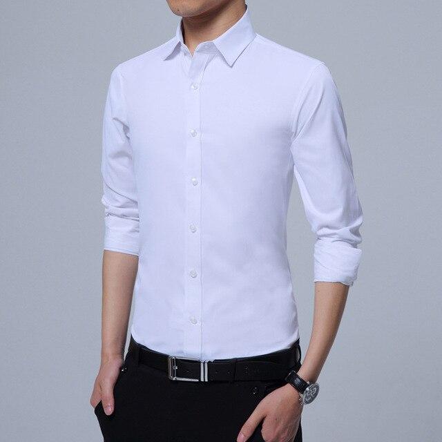 Blouse Men Dress Shirt Long Sleeve Shirt Men 5XL Regular Mens Clothes Camisa  Social Slim Fit Shirt Business Casual Men s Shirts d78c4236154