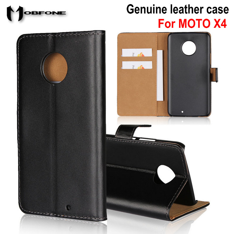 Luxury Geunine Leather Case For MOTO X4 Cases Wallet Flip Stand Cover for MOTO X4 Phone fundas Bags Capas Cover for MOTOROLA X4