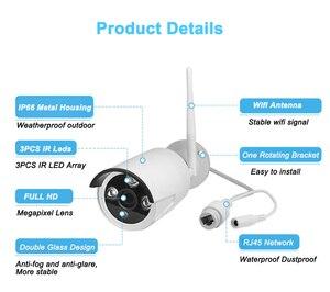 4CH WIFI CCTV система Беспроводной NVR комплект 4 шт 960P IP камера 2MP наружная Водонепроницаемая Домашняя безопасность P2P система видеонаблюдения