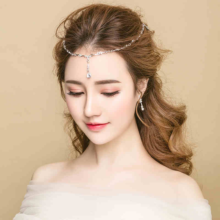 European fashion Bridal Headdress Classic Tassels Hairpin Women Girl Crystal diamond Fashion Headband Wedding Party Jewelry