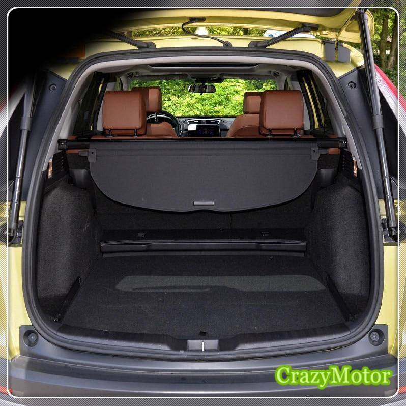 Black Rear Trunk Cargo Cover Parcel Shelf For Honda CRV 2017 2018 auto accessories 1 set black rear trunk cargo privacy cover shield parcel shelf cargo cover for mazda cx 5 2nd gen 2017 2018 car styling