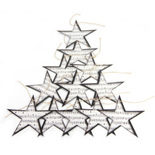 12pcs Twinkle Star Garland Music-themed Party Decorations Music Embellishments Ornaments Home Nursery Decor