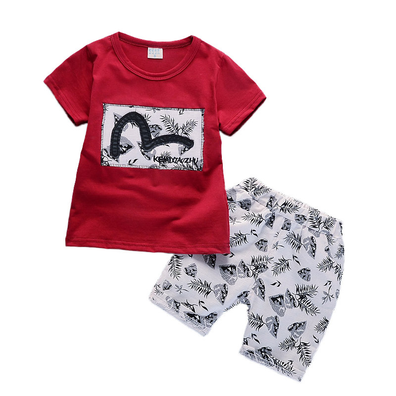 2018 High quality Baby boys clothing sets Baby t shirts+shorts pants sports suit kids clothes tracksuits