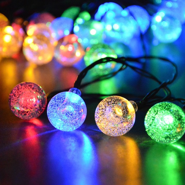 Outdoor Solar Lamps Rechargeable Power LED String Light For Holiday Multicolor Garland Garden Party Decoration LED Night Lights
