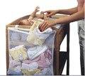 1 Pcs Única Cama de Bebê Cadeira de Malha de Algodão Conjuntos de Cama Pendurar Sacos de Fraldas Garrafa De Armazenamento De Roupas Organizador 3 Cores