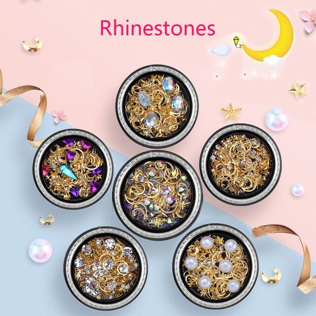 ViiNuro decoración de uñas todo para el diseño de uñas DIY diamantes de imitación coloridos para accesorios de uñas diamantes piedras para manicura