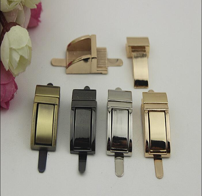 6 PCS lot 4 color plating high grade leather handbags arch bridge switch lock decorative