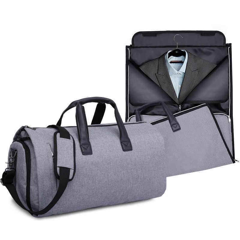 Grote Capaciteit Mannen Reistas Opvouwbaar Multi Functie Business Travel Duffle Tassen Mannelijke Bagage Handtas Schoudertas Crossbody Bag