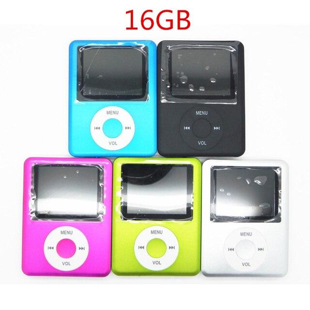 New Mini MP3 MP4 Music Player 16GB Memory 1.8 inch LCD Screen FM Radio Video Player Hot Selling Black Blue Blue Pink Green