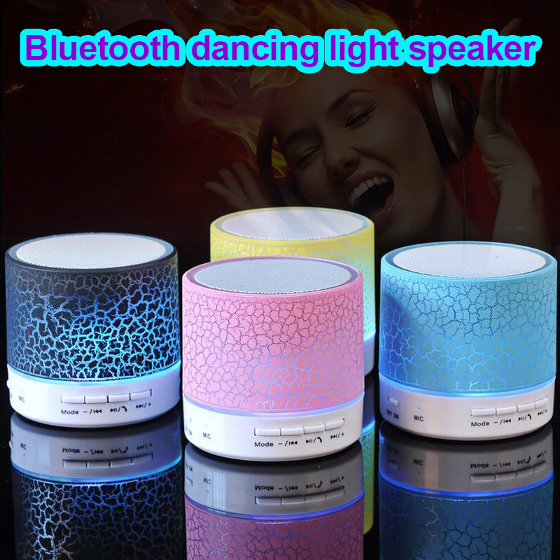 Портативный Мини светодиодный Bluetooth Колонки Беспроводной Hands Free Динамик Поддержка TF USB FM @ JH