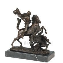 Knight armor of medieval Europe style bronze sculpture horse plastic crafts Home Furnishing jewelry gift ornaments