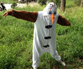 Anime Olaf snowman Costume Pajamas Cosplay White jumpsuit Adult Onesie Pyjamas Party Dress CO44175180