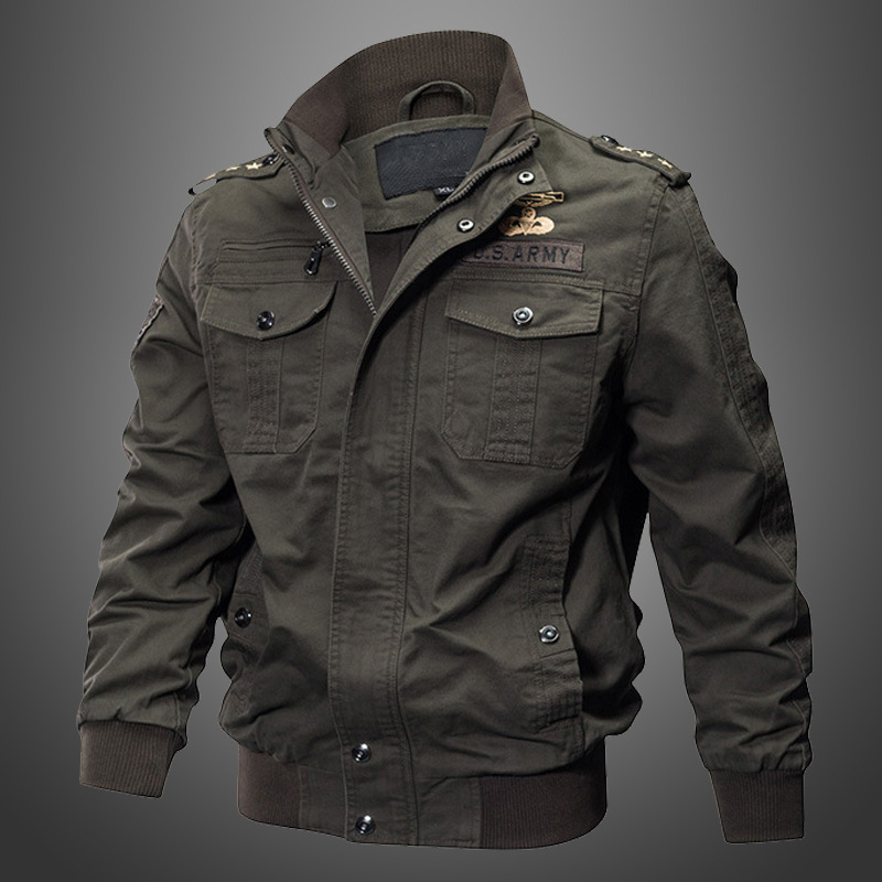 Military Pilot Jackets Men Winter Autumn Bomber Cotton