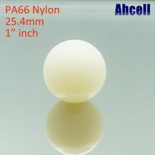 2pcs 25,4mm 1' 1 inch нейлон прецизионный твердый шарик клапана для блока передачи робот игрушка ролик 26 Ahcell ролик PA66 пластиковый подшипник