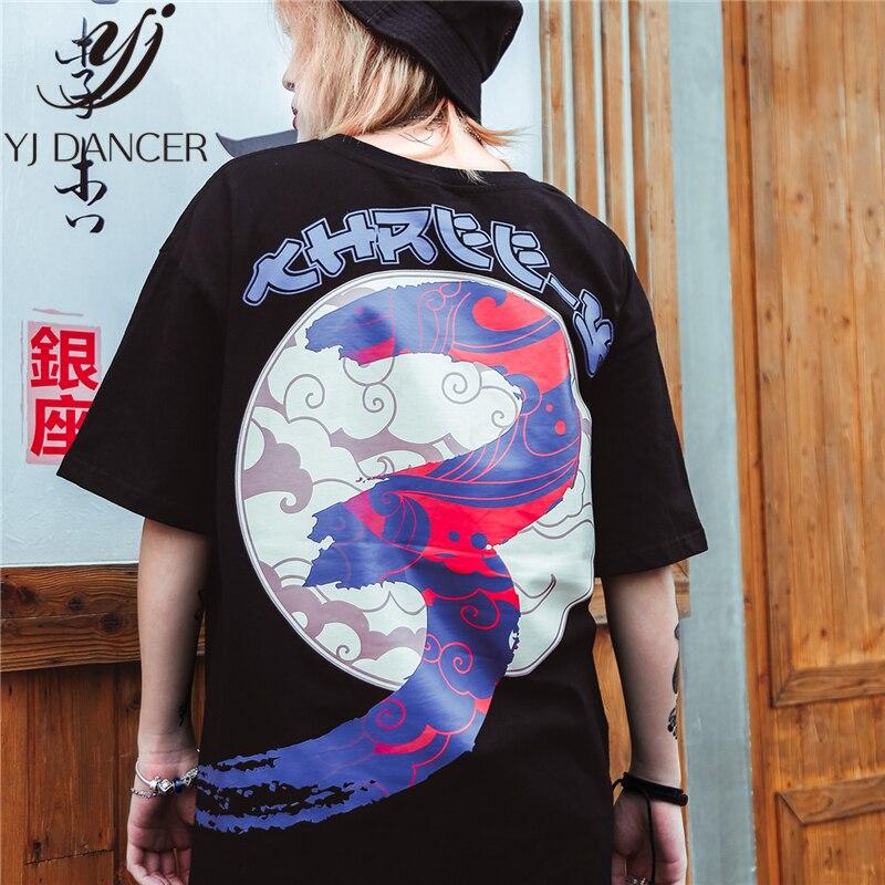 2019 été nouveau T-shirt japonais Anime personnalité impression T-shirt à manches courtes hommes et femmes Couple Hip Hop Harajuku T-shirt