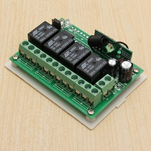 Hot 12V 4CH Channel 433Mhz Wireless Remote Control Switch Integrated Circuit With 2 Transmitter DIY Replace Parts Tool Kits