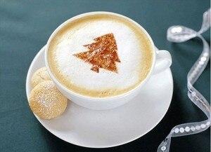 Image 2 - 16 cái/bộ Cà Phê Latte Cà Phê Cappuccino Nghệ Thuật Stencils Bản Mẫu Strew Hoa Miếng Lót Lau Bụi Phun cho Cà Phê Trang Trí Dụng Cụ Phụ Kiện