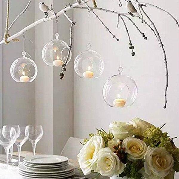 Fashion-80MM подвесной подсвечник, стеклянные шары, Террариум, подсвечник для свадьбы