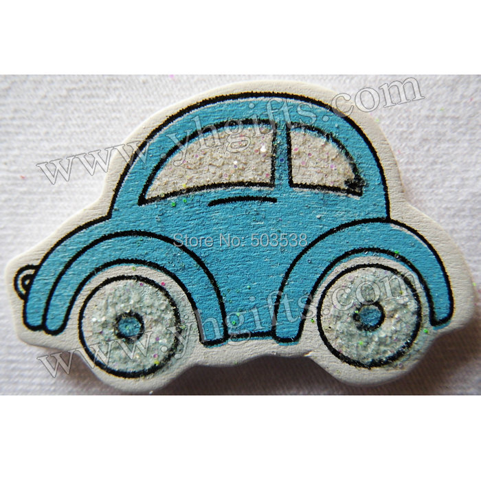 wood glitter car stickerscartoon 3d stickershome decorationkids toysbirthday giftfavorscrapbooking kit3x45cm