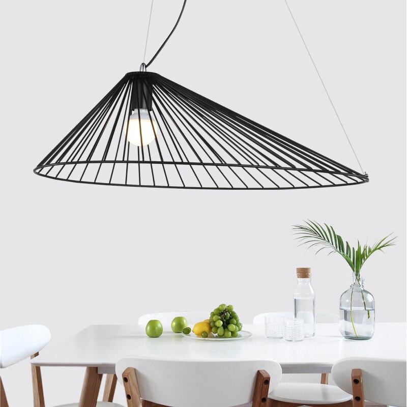 Art Design Restaurant pendentif lumières chapeau forme cordon pendentif Suspension Foyer chambre suspendus luminaires café boutique déco