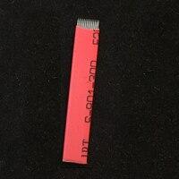 150pcs 0.20mm 12 14 16 18mm Laminas Agulhas Tebori Microblading needles Permanent MakeupTattoo Permanent Makeup Manual Eyebrow