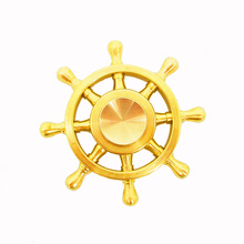 Fidget Spinner metal 8 Finger Spinner Hand Spinner Brass alloy For Autism Adult AntiStress Relieve focus Toy gift funny