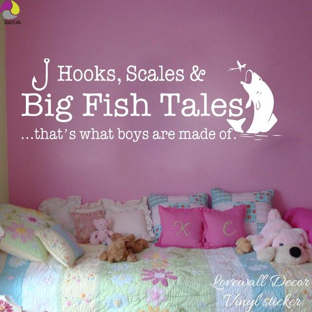 Schlafzimmer Geschichten #18: Große Fische Geschichten, Die Der Was Jungen Sind Aus Wandaufkleber Boy  Zimmer Schlafzimmer Haken Skala