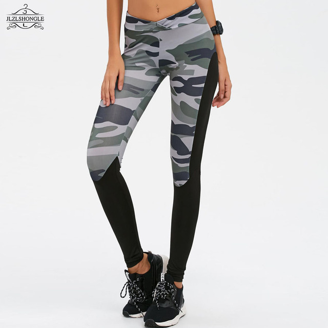 e1fd1e01a30 Camouflage Styles Fashion Patchwork Fitness Leggings Harajuku Female  Clothing 2017 New Elastic Push Up Slim Pants