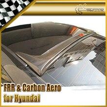 ЭПР Стайлинга Автомобилей Для Hyundai Genesis Rohens Купе 09 Углеродного Волокна Заднего Стекла Спойлер На Крыше
