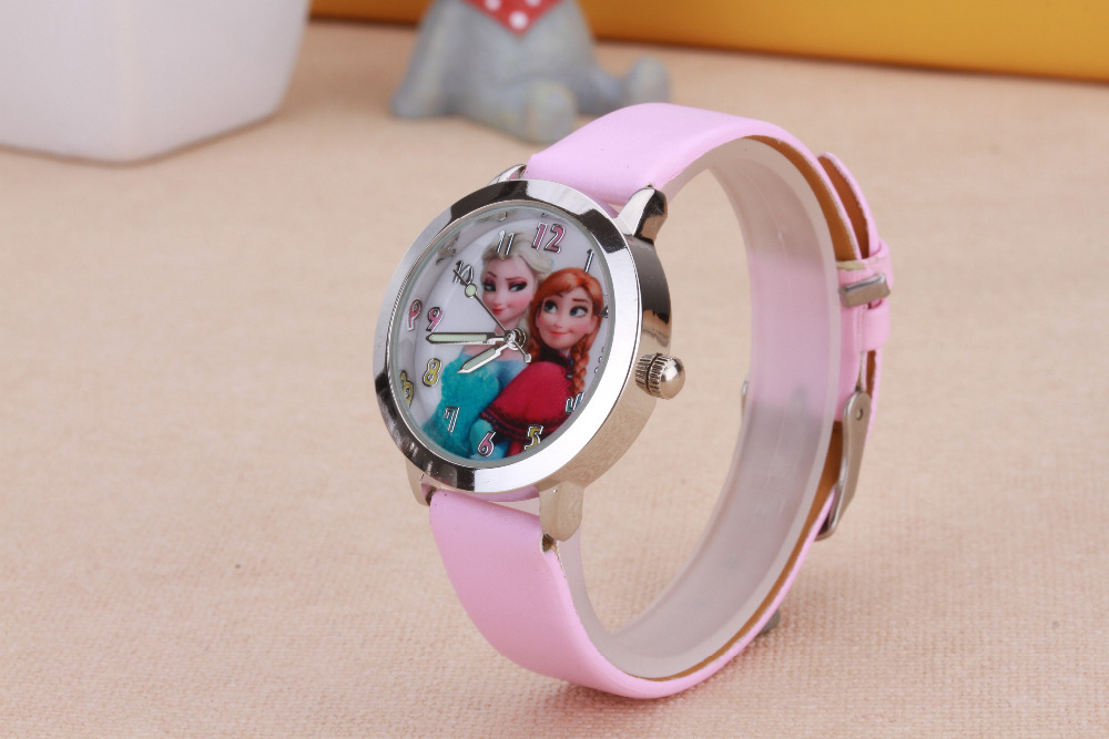 fashion watch kids cartoon watches Princess Elsa Anna watches quartz watch children clock boy gril gift hours relojes relogio new cartoon children watch girl watches fashion boy kids student cute leather sports analog wrist watches relojes k519