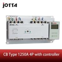 Barato 1250A 4 polos 3 fases interruptor de transferencia automática ats con controlador en inglés